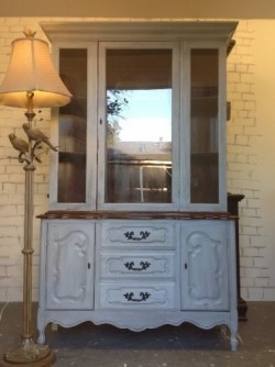SOLD!!!!!French Provincial China cabinet