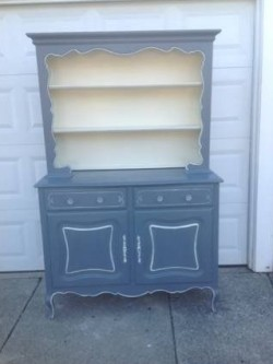 SOLD!!!Vintage French provincial China hutch