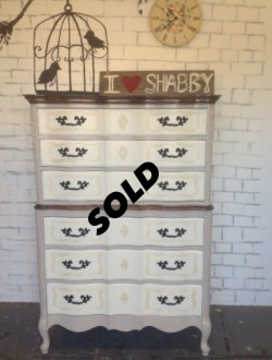 French Provincial tallboy dresser
