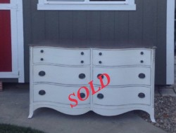 Double bow front dresser