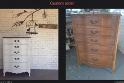 French provincial dresser before/after