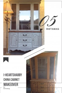 China cabinet/hutch makeover