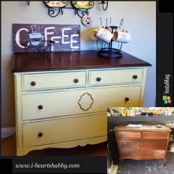 Dresser turned in to coffee bar