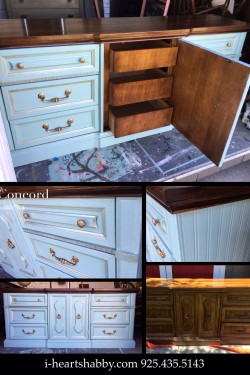 Credenza before & after