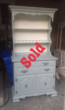 Small China cabinet and hutch
