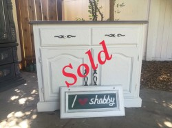 White farmhouse sideboard