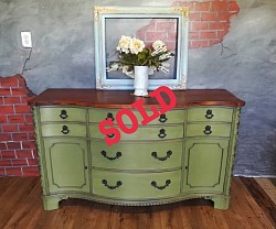Olive green buffet